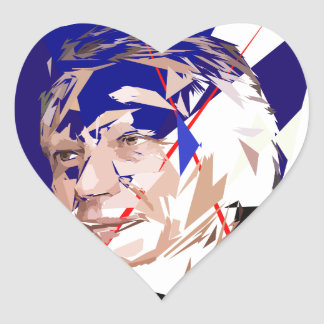 Dominique de Villepin Heart Sticker