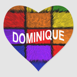 DOMINIQUE HEART STICKER