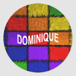 DOMINIQUE ROUND STICKER
