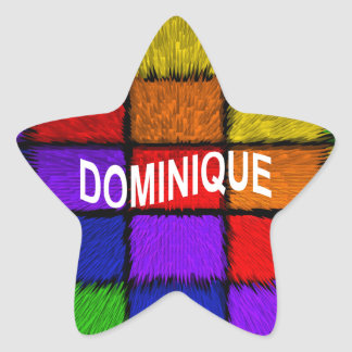 DOMINIQUE STAR STICKER