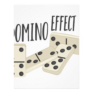 Domino Effect Personalized Letterhead