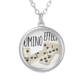 Domino Effect Silver Plated Necklace