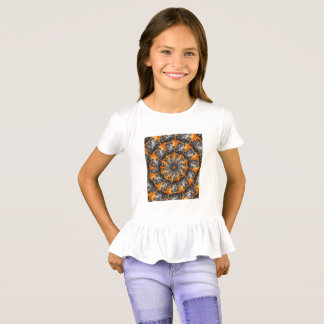 Dominoes Girls' Ruffle T-Shirt