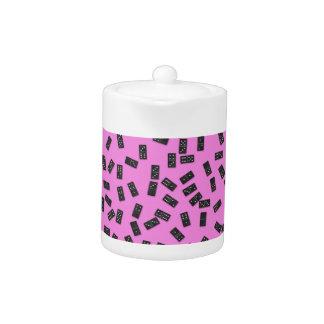 Dominoes on Pink