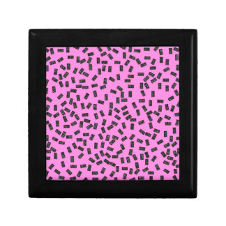Dominoes on Pink Gift Box