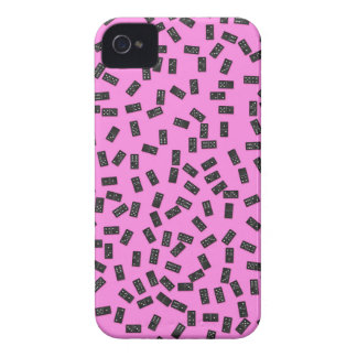 Dominoes on Pink iPhone 4 Case-Mate Cases