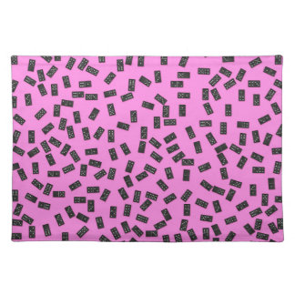 Dominoes on Pink Placemat