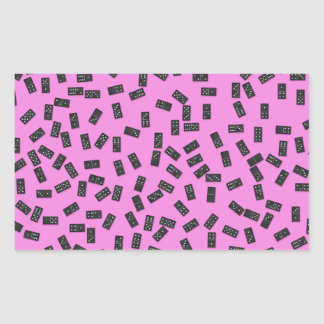 Dominoes on Pink Sticker