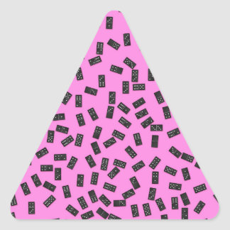 Dominoes on Pink Triangle Sticker