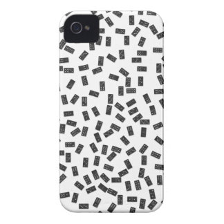 Dominoes on White iPhone 4 Cases