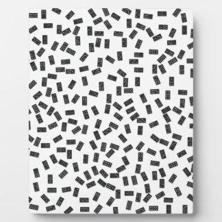 Dominoes on White Plaque