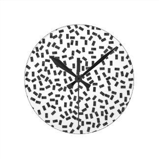 Dominoes on White Round Clock