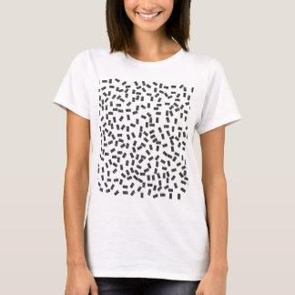Dominoes on White T-Shirt