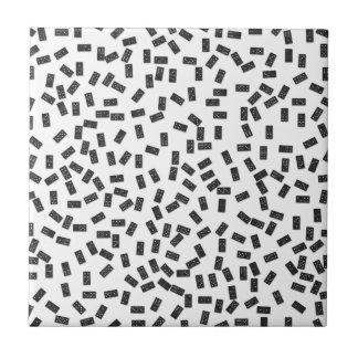 Dominoes on White Tile