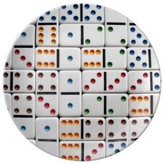 Dominoes plate porcelain plates