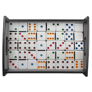 Dominoes serving tray