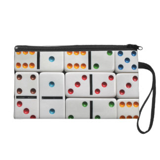 Dominoes wristlet bag