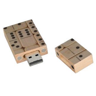 Dominos usb flash memory wood USB 2.0 flash drive