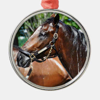 Dom's Pizza Empire Colt Silver-Colored Round Ornament