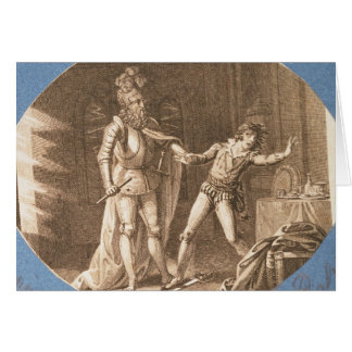 Don Giovanni and the statue of the Commandantore Card