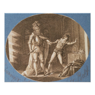 Don Giovanni and the statue of the Commandantore Poster