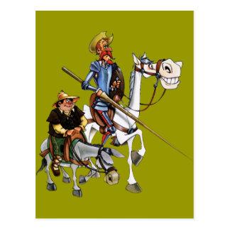 DON QUIJOTE, SANCHO, ROCINANTE y RUCIO - Cervantes Postcard
