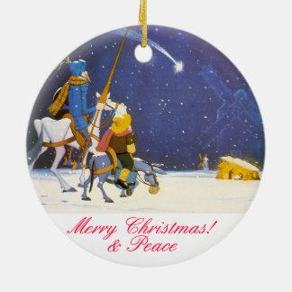 DON QUIXOTE - Adorno de Navidad Round Ceramic Ornament