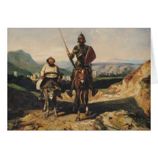 Don Quixote and Sancho Card