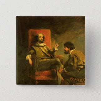 Don Quixote and Sancho Panza 2 Inch Square Button