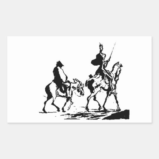 Don Quixote and Sancho Panza art Sticker