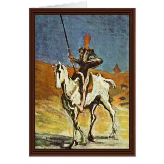 Don Quixote And Sancho Panza By Daumier Honoré (Be Card