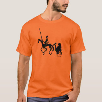 Don Quixote and Sancho Panza graphic art t-shirt