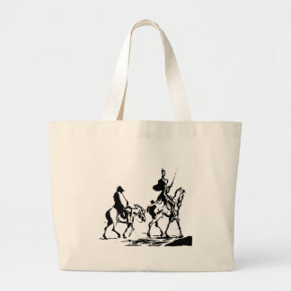 Don Quixote and Sancho Panza Large Tote Bag
