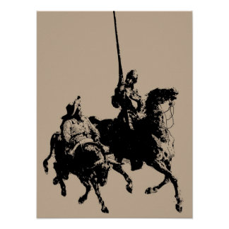 Don Quixote and Sancho Panza Poster