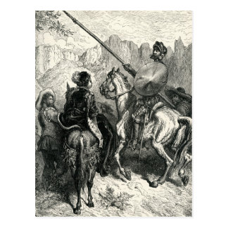Don Quixote and the lady Postcard