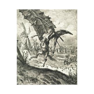 Don Quixote and the Windmills Canvas Print
