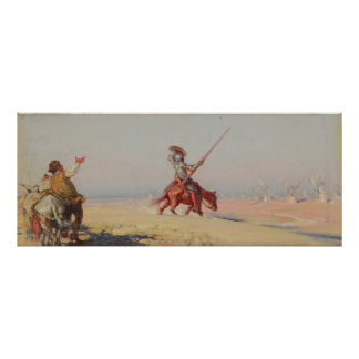 Don Quixote fight of the windmills Poster