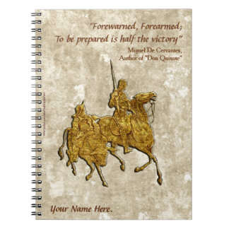 Don Quixote Quote and Illustration - Personalized Notebook