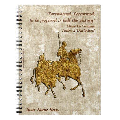 Don Quixote Quotes: Don Quixote Quote And Illustration (Personalized) Notebook