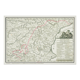 Don Quixote Route Map-Mapa de la Ruta del Quijote Poster