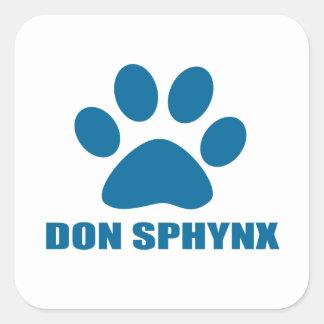 DON SPHYNX CAT DESIGNS SQUARE STICKER