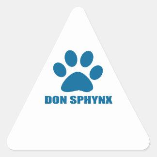 DON SPHYNX CAT DESIGNS TRIANGLE STICKER
