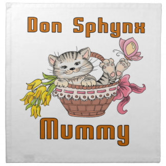 Don Sphynx Cat Mom Napkin