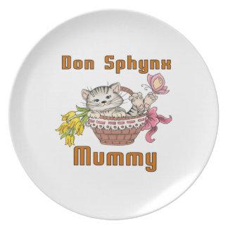 Don Sphynx Cat Mom Plates