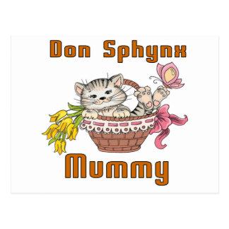 Don Sphynx Cat Mom Postcard