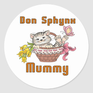 Don Sphynx Cat Mom Round Sticker