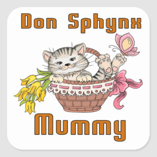 Don Sphynx Cat Mom Square Sticker