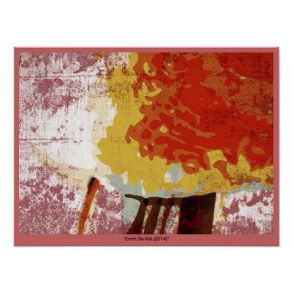 Don t Be Koi Japanese Ink Style Abstract Poster