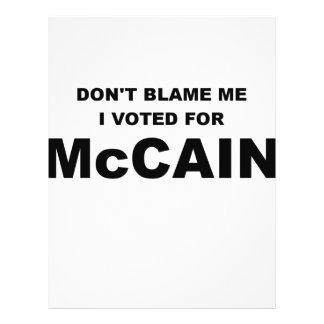 Don t Blame Me I Voted McCain Flyer Design