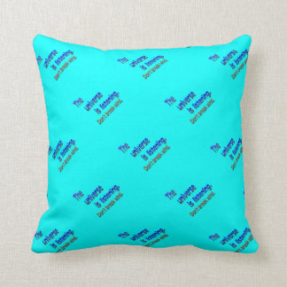 Don t Break Wind - Universe is Listening Throw Pillows